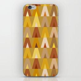 Deer Head Geometric Triangles | mustard yellow taupe iPhone Skin