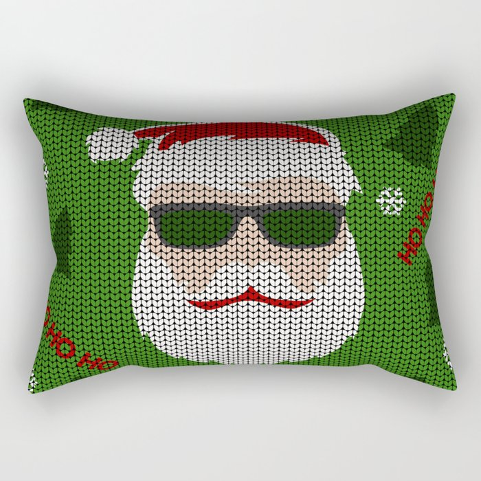 Santa Claus - Ugly Christmas Sweater Rectangular Pillow
