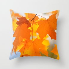 Yellow-orange Autumn Throw Pillow