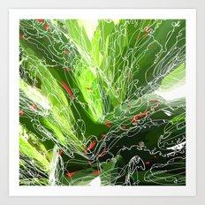 green explosion Art Print
