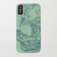 huebucket iPhone & iPod Cases featuring Ocean Breath by Huebucket