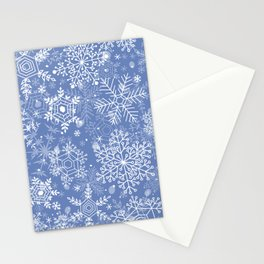 Snowflake pattern Stationery Cards