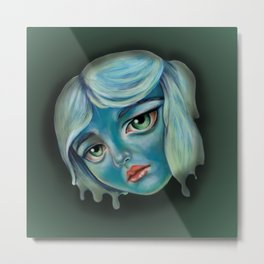 Little Lady in Blue Metal Print