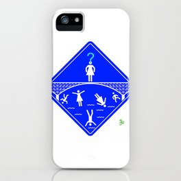 Jump Off Bridge Girl Invert iPhone Case