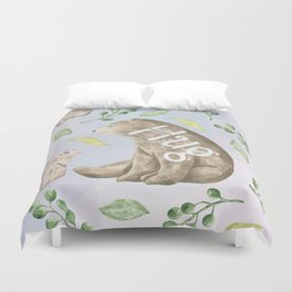 Bear Hug - Cute Animal Love Duvet Cover