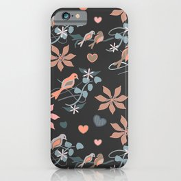Birds in Peach iPhone Case