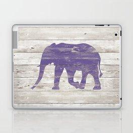 Violet Elephant on White Wood A222c Laptop & iPad Skin