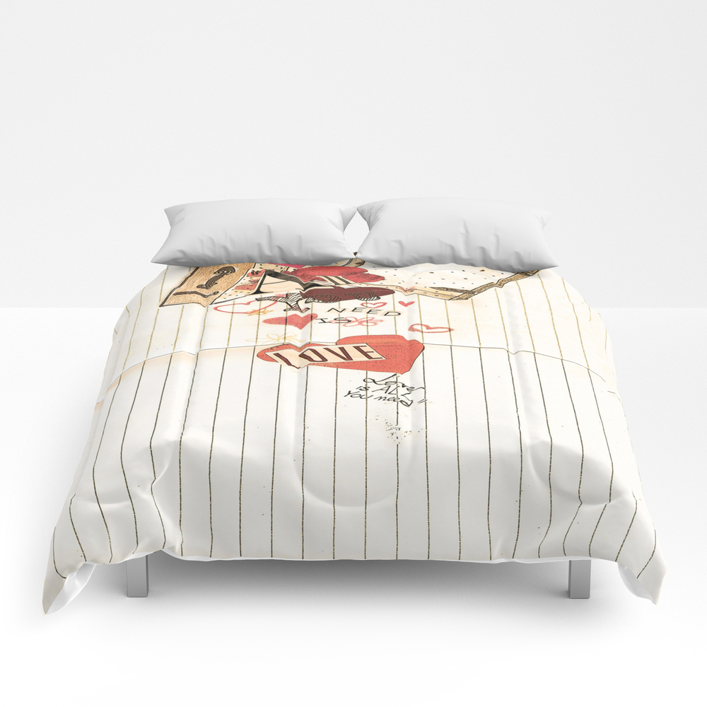 All You Need Is Love, Love Is All You Need Comforter by Angelcapa CMF8055433
