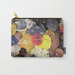 Multicolored Aspen Leaves in Woods Carry-All Pouch