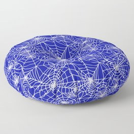 Royal Blue Cobwebs Floor Pillow