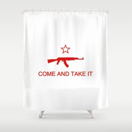 Come and Take It AK47 Red Shower Curtain