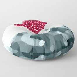 Little Red Fish Floor Pillow
