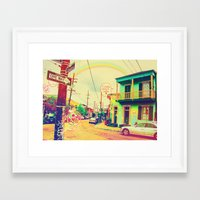 new orleans Framed Art Prints featuring New Orleans ~ by Full Ten