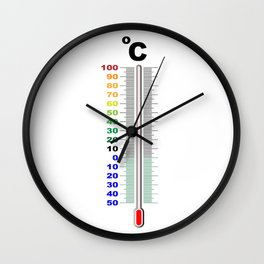 A Centigrade Thermometer Wall Clock