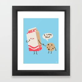 Cookie Loves Milk Framed Art Print