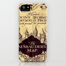 bown map iPhone Case