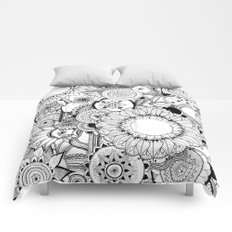 Floral Kaleidoscope  Comforters