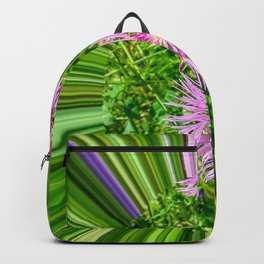 Lilak flower with multicolored rays with a tunnel effect. Backpack
