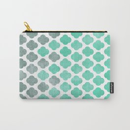 Sailing Under a Grey Sky - Moroccan Pattern Carry-All Pouch