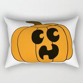 Scared Jack O'lantern Rectangular Pillow