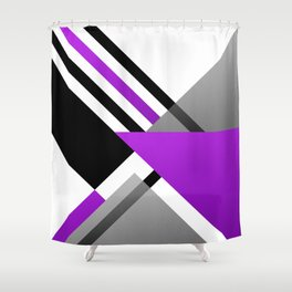 Sophisticated Ambiance - Silver & Highlighter Lavender Shower Curtain