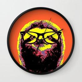 Warhol Cat (2) Wall Clock