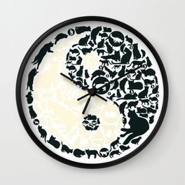 Yin-Yang Cats - FELT Wall Clock