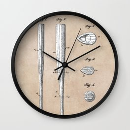 patent Taylor Streamlined baseball bat or the like 1938 Wall Clock