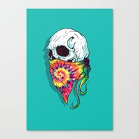 hipster Canvas Prints featuring Hipster by Steven Toang
