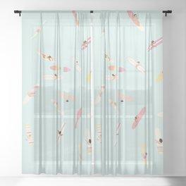 Surfs Up Ladies Sheer Curtain