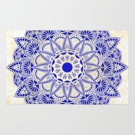 Blue Watercolor Mandala Rug