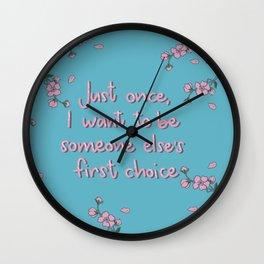 Lara Jean Wall Clock