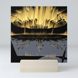 Against an asteroid attack Mini Art Print