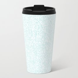 Spacey Melange - White and Light Cyan Travel Mug