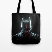 bat man Tote Bags featuring BAT MAN - bat man by Raisya
