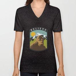 Bigfoot Patch Unisex V-Neck