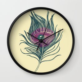 Feather in my eye Wall Clock