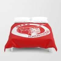 ramen Duvet Covers featuring This Is My Ramen Shirt (Large Print for Hoodies) by Bouké