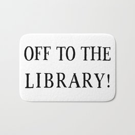 Off to the Library Bath Mat