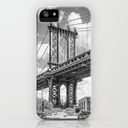 NEW YORK CITY Manhattan Bridge | upright slim panorama iPhone Case