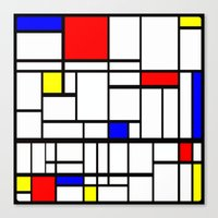 mondrian Canvas Prints featuring Mondrian inspired by Steve W Schwartz Art