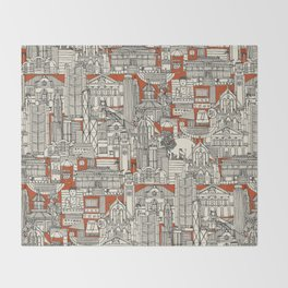 Hong Kong toile de jouy Throw Blanket