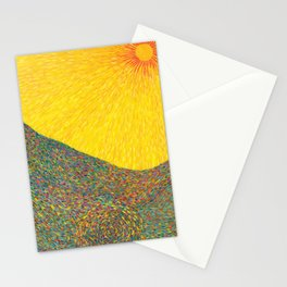 Here Comes the Sun - Van Gogh impressionist abstract Stationery Cards
