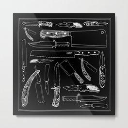 Knifes Metal Print