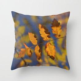 """Golden leaves"" Throw Pillow"