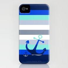 Navy Anchors: Beneath the Sea Slim Case iPhone (4, 4s)