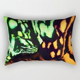 Neon animal skin Rectangular Pillow