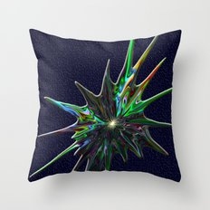 Fractal Splash Throw Pillow
