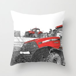 Case IH Tractor Throw Pillow