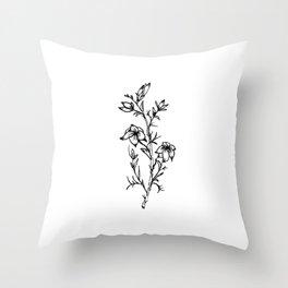 Carolina Jessamine Wildflower Throw Pillow